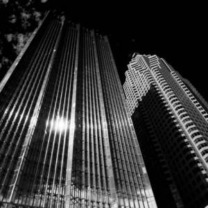 Buildings photography black and white photo skyscapers inToronto - épületfotók felhőkarcolók Torontóban fekete-fehér fotó