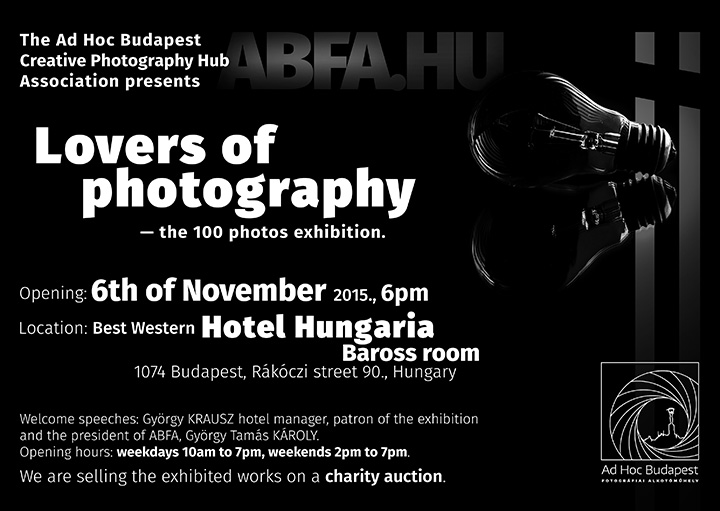 Lovers of photography - Photography exhibition invitation